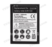 High Quality 3500mAh Battery For Samsung Galaxy Note II Note 2 N7100 Free Shipping UPS DHL EMS HKPAM