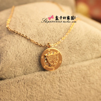 Fashion new arrival titanium diamond leopard head circle necklace rose gold necklace 14k color gold accessories Women