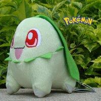 "Pokemon Plush Stuffed Animal Chikorita 5.5"" Nintendo Game Collectible Cute Toy"