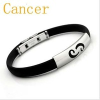 Cancer titanium steel silicone bracelet men and women bracelet multicolor