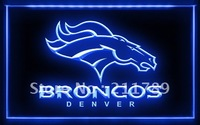 A061 B DENVER BRONCOS NFL Football Bar Pub LED Light Sign