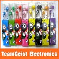 500pcs/lot Billiards In-ear Earphone, Colorful Ball Earpiece Headphone Headset For IPhone 4 4S 5 MP3 Mobilephone
