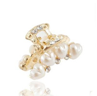 New 2014 hair accessories gripper hair accessory pearl created diamond flowers girls' dresses wholesale sale