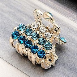 2013 new fashion hair accessory hairpin luxury rhinestone small hair claw fashion gripper small claws hair accessory(China (Mainland))