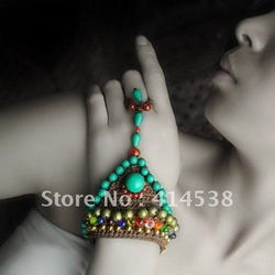 Free Epacket Shipping HOT SALES!Bohemia Hippie Coutryside trend DIY tibet bracelet wrist Turquoise jewelry traditonal belly(China (Mainland))