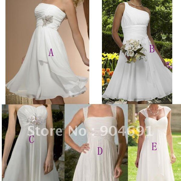 Wedding Dresses Knee Length Ivory 119