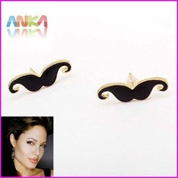 Free Shipping Fashion Jewelry Mini Vintage Moustache Stud Beard Earrings#89607