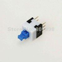 Free Ship,8mm x 8mm Miniature Self-locking Switch Push Rectangle Button 6-pin,Long life use