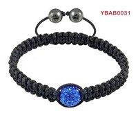 hot sale shamballa blue crystal simple style friendship bracelets wholesale
