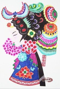 Tradtional Hand-made  Paper Cutting-Colorful Peking Opera, 10 pieces for a bag, free shipping
