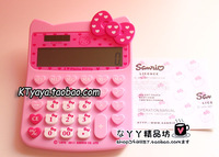 Hello kitty HELLO KITTY new arrival bow solar calculator computer pink