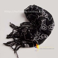 Hello kitty HELLO KITTY black-matrix whitecat scarf o