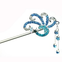Fashions Beautiful Animal Peacock Shining Hair Sticks Personality Unique Retail&Wholesale 3 Color Choose Joker More Hair Style