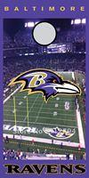 Baltimore Ravens U Cornhole Game  Full Color Printed Adhesive Vinyl Decal