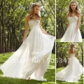 Free Shipping Custom made chiffon Sweetheart Ruffle Ivory Garden Bridal dresses wedding gown