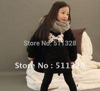 FREE SHIPPING 2014 new arrival  children clothing  girl sweatshirts girl dress  girl black sweatshirts