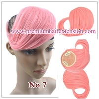 Synthetic Clip in Inclined Bang Fringe Hair Extensions colorfull cosplay bang fringe 10colors 10sets/lot  free shipping