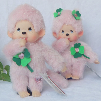 lover doll 2pcs MONCHHICHI four leaf grass lovers doll male female birthday gift romantic toy 20cm