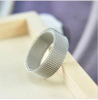 Net titanium ring lovers ring titanium ring qd0002