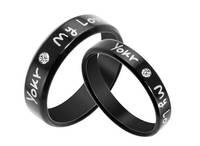 Accessories black mylove diamond titanium ring lovers ring box