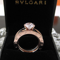 Diamond 2 two-in-one titanium ring lovers ring