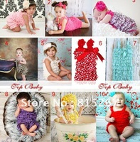 EMS Free Shipping 30pce Cute! Toddler Baby Girl Lace Posh Pettiskirt Ruffle Rompers Dress Children Tutu Lace Clothes