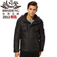 2012 winter BOSIDENG down coat male wowed detachable cap b1201121 free shipping