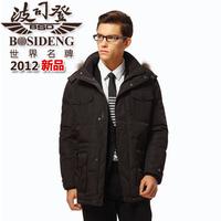 2012 BOSIDENG down coat male business casual medium-long b1201127 free shipping