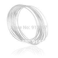 100PCS x Simple Exquisite Fashion Style Scrub Alloy Soft Bracelet // Free Shipping