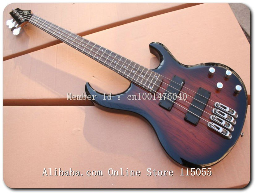 New arrival telluride 4 string electric bass guitar in wooden finish Musical Instruments (NO CASE) At1(China (Mainland))
