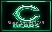 A046 B CHICAGO BEARS NFL Football Bar Pub LED Light Sign.