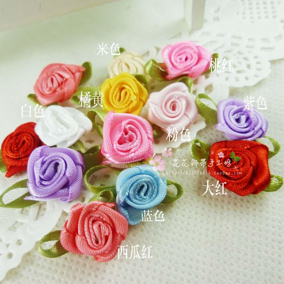 Ribbon flower ribbon flower child hair accessory small rose clothes gift box accessories flower(Hong Kong)