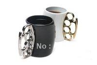 Wholesale 50pcs/lot Fred & Friends Fisticup Metallic-Handled Ceramic Mug Free shipping