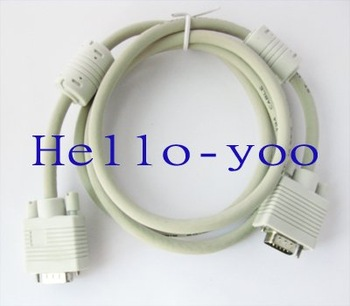 15 PIN SVGA SUPER VGA Monitor M M Male To Male Cable CORD FOR PC TV 1.5m Free shipping