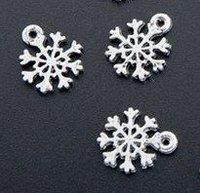120 Pcs Tibetan Silver Christmas Snowflake Charm 11.5x13.5mm (1467)