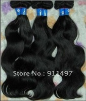 8-24'' 100% brazilian virgin remy hair weave beautiful body wave color #1B high quality in stock DHL free shipping