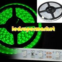 Free Shipping  5m 500cm LED Flexible Srip Light  Waterproof 12V 60leds/m Green Strip Lighting