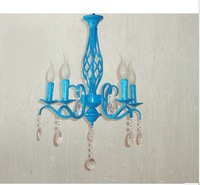 5 head LED candle droplight, blue