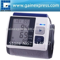 Fully Automatic Wrist Type Blood Pressure Monitor Meter Auto Inflate Inflating / Deflate Diflating Sphygmometer Sphygmomanometer(Hong Kong)