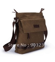 Free shipping!! 100% canvas and  Leather Men's Handbag Bag Laptop bag Briefcase Messenger bag
