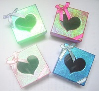 EMS Free Shipping 240pcs/lot 6x6x3cm Jewelry Packaging Ring & Earring Necklace Set Gift Box BX10*
