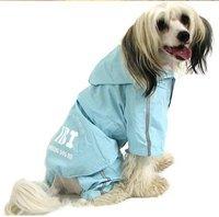 Free Shipping New Fashion Dog Raincoat ,Pet Hoodded Raincoat, Pet 4 feet Rain Coat  Small Dog Raincoat pet products