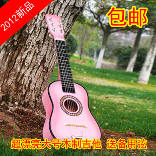 Guitar child wood guitar 23 guitar string child musical instrument(China (Mainland))