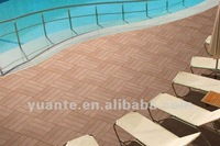 Easily install and durable wood plastic composite/ wpc DIY tiles