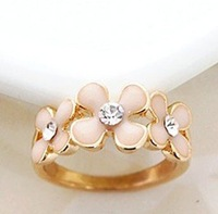 Min.order is $8 (mix order), Promotion Fashion sweet Ring, Sweet  Flower Female Ring R069