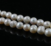 Free shipping!!!Round Cultured Freshwater Pearl Beads,Jewelry Fashion, natural, white, A Grade, 9-10mm, Hole:Approx 0.8mm