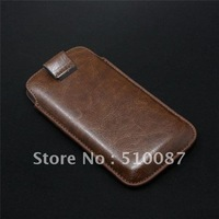 100pcs/lot  Wholesale -Wholesale - NEW ARRIVE PULL TAB LEATHER POUCH CASE FOR i9300 S3 cover case