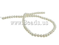 FREE SHIPPING Natural Cultured Freshwater Round Pearl Beads,A Grade ,white color, 5-6mm, 2012 hot pearl beads,Jewelry DIY
