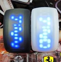 Bright led scrub bracelet watch siman luminous jelly watches