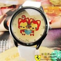 2012 double hyraxes watch cartoon female watch hot-selling fashion mens watch ladies watch
